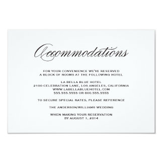 Be Married | Accommodation Enclosure Card