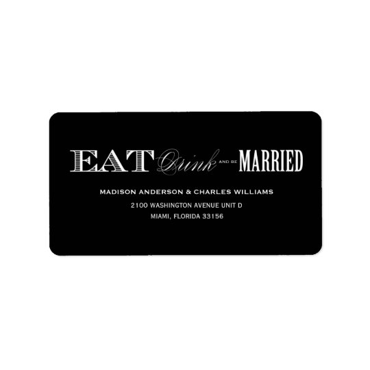 & BE MARRIED   ADDRESS LABELS