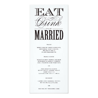Be Married | Menu Card