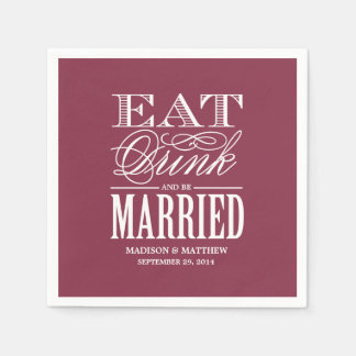Be Married   Personalized Paper Napkins
