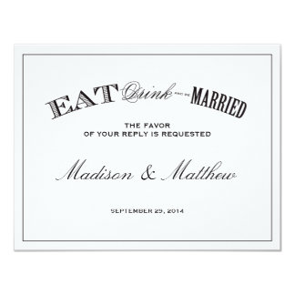 Be Married | RSVP Postcard 4.25x5.5 Paper Invitation Card