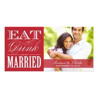 & BE MARRIED | SAVE THE DATE ANNOUNCEMENT CUSTOMIZED PHOTO CARD