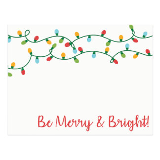 Be Merry and Bright! Postcard