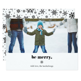 Be Merry   Modern Holiday Photo Card