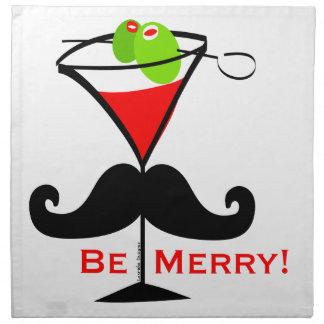 Be Merry Mustache Napkin