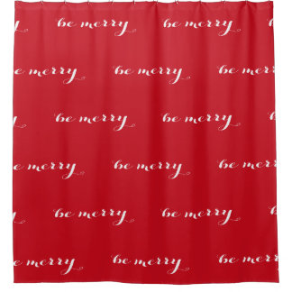 Be Merry Script Red and White Christmas Holiday