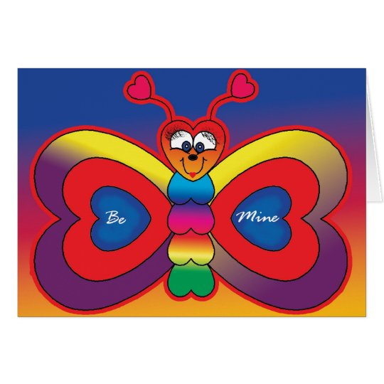 Be Mine Butterfly Card