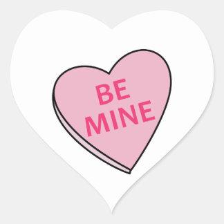 BE MINE CANDY HEART HEART STICKER