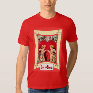 Be mine, cherubs and a heart t-shirts