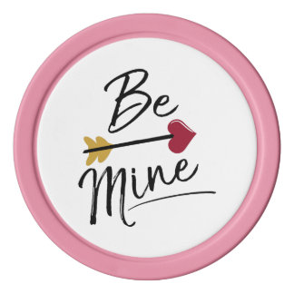 Be mine Cute Valentines Poker Chips