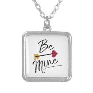 Be mine Cute Valentines Silver Plated Necklace