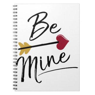 Be mine Cute Valentines Spiral Notebook