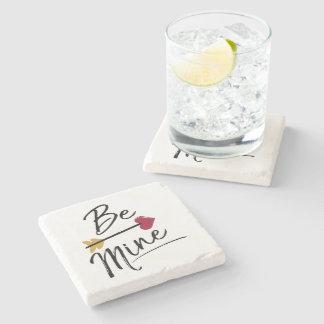 Be mine Cute Valentines Stone Coaster