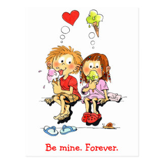 Be Mine Forever Funny Valentines Cards Postcard
