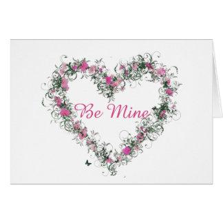 Be Mine Greeting Card