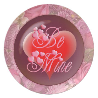 BE MINE HEART by SHARON SHARPE Plate