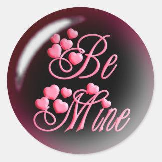 BE MINE & HEARTS by SHARON SHARPE Classic Round Sticker