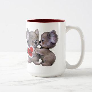 Be Mine Koalas Two-Tone Coffee Mug