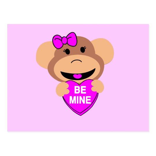 be mine monkey. postcard