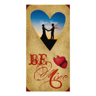 Be Mine Photocard Photo Card Template