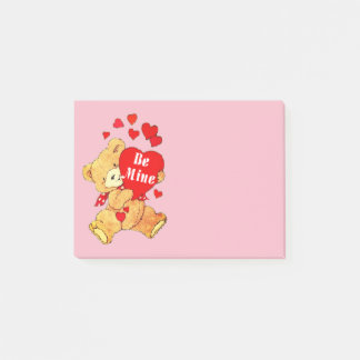 Be Mine Teddy Bear Post-it Notes