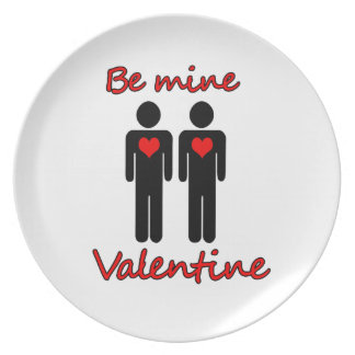 Be mine Valentine Party Plates