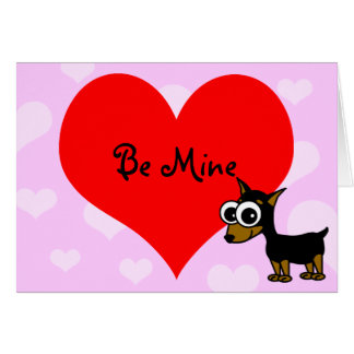 Be Mine Valentine's Day Card with Minpin