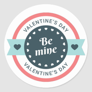 Be Mine Valentine's Day Classic Round Sticker