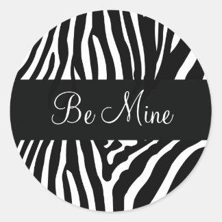Be Mine Valentine's Day Zebra Envelope Seal