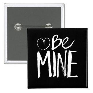 Be Mine Valentine's | White Brush Script Button
