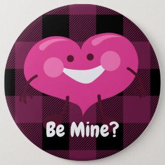 Be Mine? | Whimsical Heart | Valentine 6 Inch Round Button