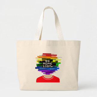 Be More LGBTQ Be More Chill Design Large Tote Bag