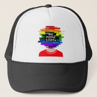 Be More LGBTQ Be More Chill Design Trucker Hat