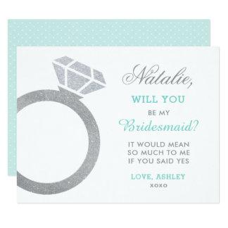 Be My Bridesmaid Card | Diamond Ring Design
