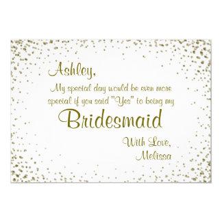 Be My Bridesmaid | Gold Confetti Card