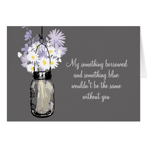 Be My Bridesmaid - Mason Jar & Wildflowers Card