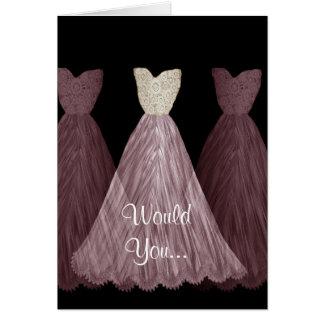 Be My Bridesmaid - PLUM Dresses Wedding Card