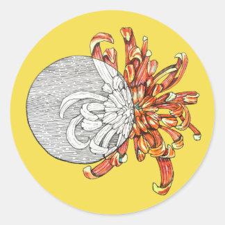Be my flower round sticker