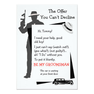 Be My Groomsman Offer You Can't Decline Card