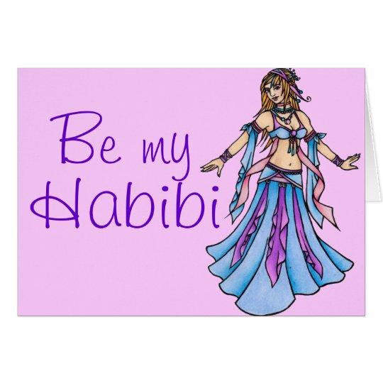 Be my Habibi Belly Dancer Card