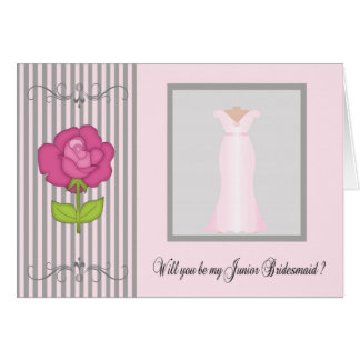 Be My Junior Bridesmaid Request Card