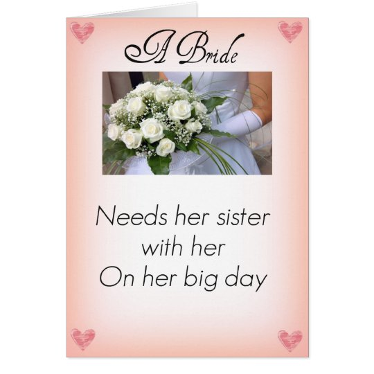 Be My Maid of Honour Sister Card