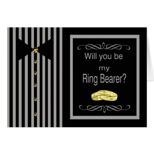 Be My Ring Bearer Request Card