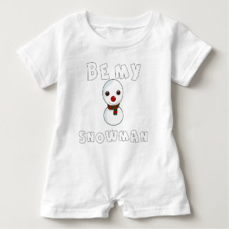 be my snowman baby romper