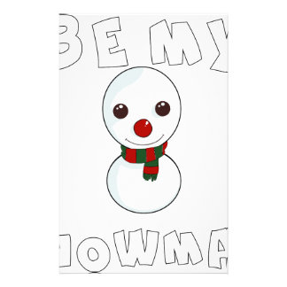 be my snowman stationery
