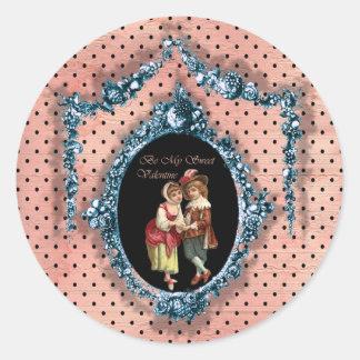 Be My Sweet Valentine Classic Round Sticker
