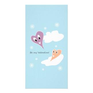 Be my Valentine Customized Photo Card