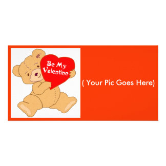 Be My Valentine-Designer Valentine Photo Gift Card Customized Photo Card