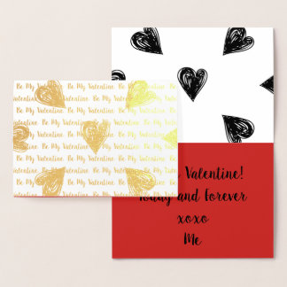 Be My Valentine Foil Card