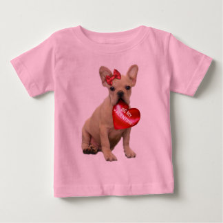 Be My Valentine French Bulldog Toddler T-shirt